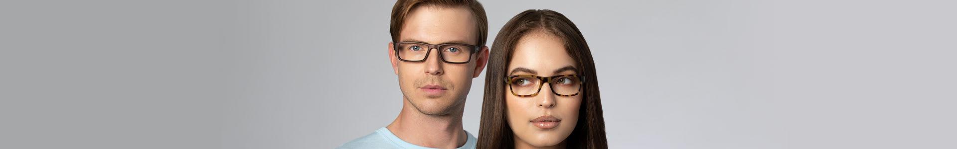 Rectangular Frames for Eyeglasses & Sunglasses