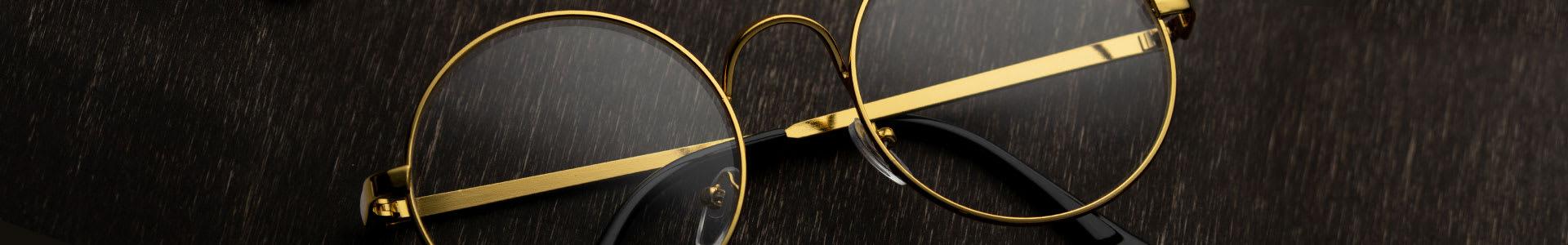 Gold Eyeglasses & Sunglasses