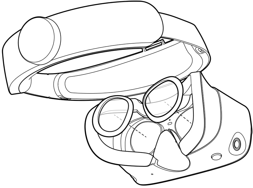 Oculus Quest Line Drawing